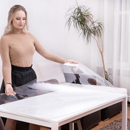 transparente Tischfolie, Schutzfolie, Tischdecke oder Schreibunterlage