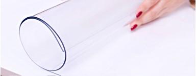 Unsere PVC Tischdecken sind transparent und glasklar